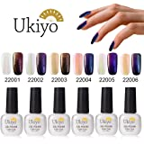 Ukiyo 4PCS Soak Off + nero base coat camaleonte scolorire kit smalto semipermanente 8ml UV LED Smalto semipermanente unghie in Gel gel polish Nail Art set