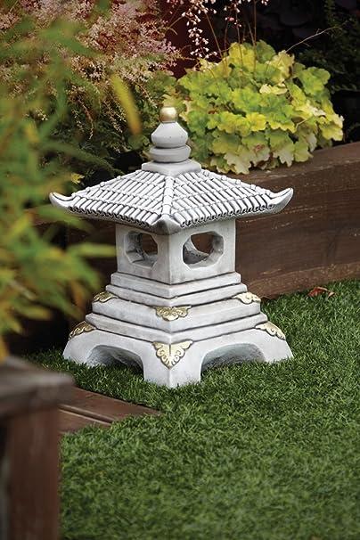 Adornos de jardín chino - One Pagoda farol niveles japonés: Amazon.es: Jardín