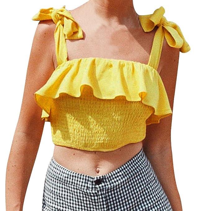 Tank Tops para Mujeres, ZARLLE Mujer Camiseta Tirantes Verano Deporte de Gimnasio Camisa Blusa Casual Tops Suelta Camisetas Deporte Fitness Sujetador ...