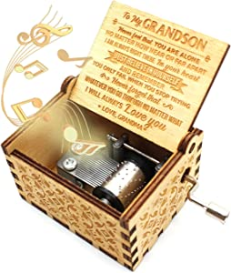 ukebobo Wooden Music Box- You are My Sunshine Music Box, from Grandma to Grandson, Gifts for Kids - 1 Set (just)