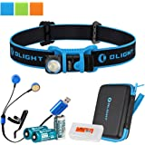 Olight H1 Nova 500 Lumens LED Rechargeable Headlamp w/ Olight CR123A and Two RCR123A Batteries, Olight UC Charger, and LumenTac Battery Organizer