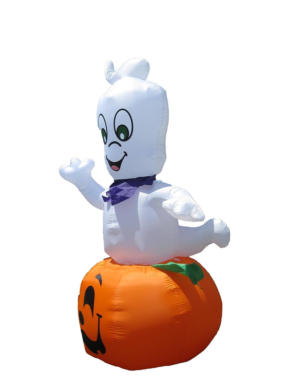 casper halloween inflatable. amazon.com: jumbo 9 foot animated halloween inflatable ghost on pumpkin - 2012 yard decoration: home \u0026 kitchen casper