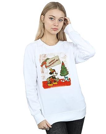Amazoncom Disney Womens Mickey Mouse Vintage Christmas Sweatshirt