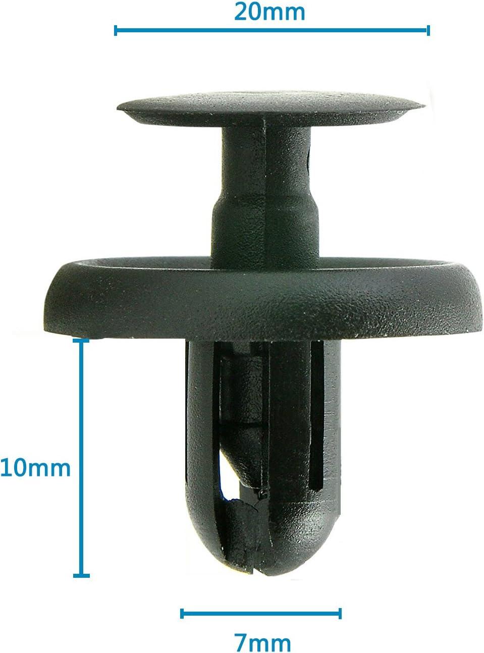 30PC Fender Splash Shield Push Rivet Fastener Retainer Pin Clip For Suzuki Mazda