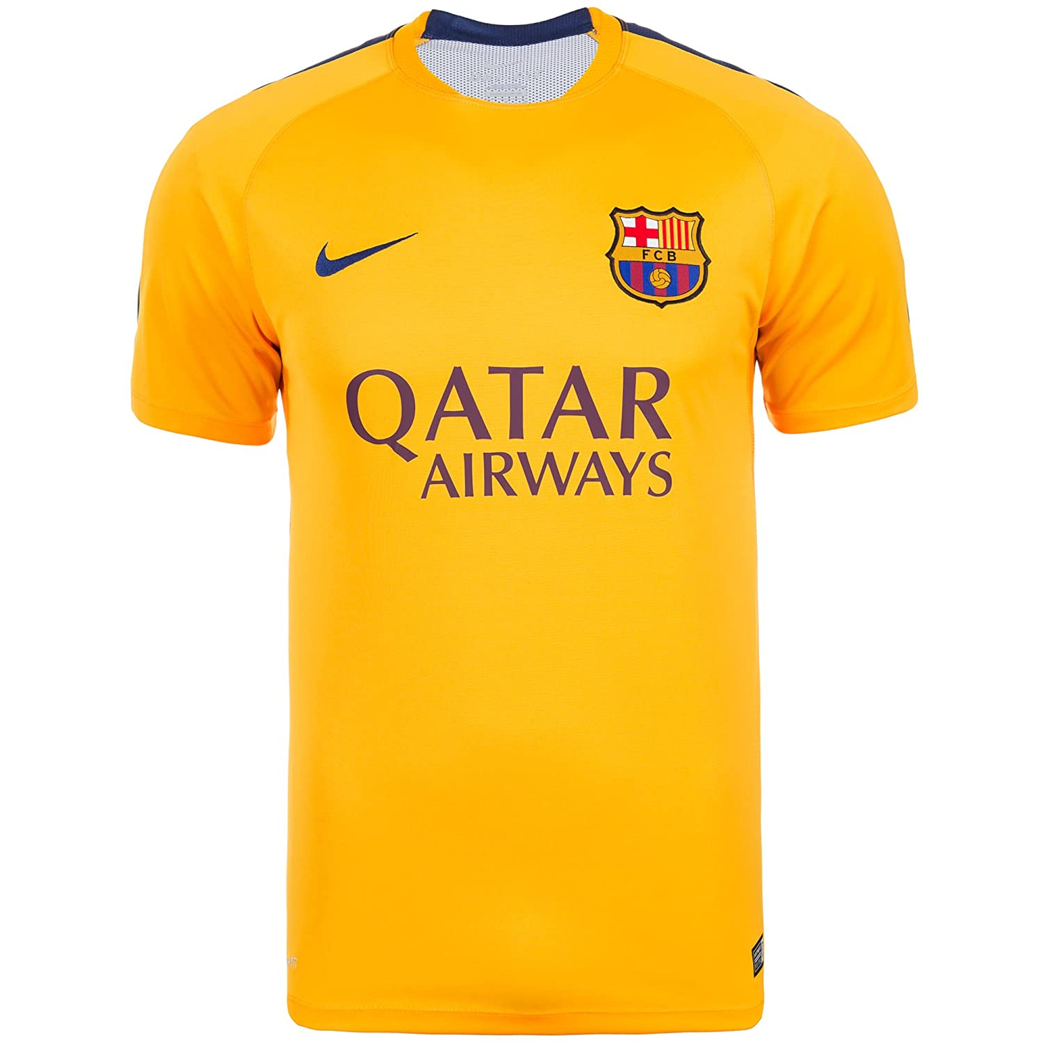 Nike 2015/16 Mens FC Barcelona Pre-Match Training Soccer Short-Sleeve Shirt