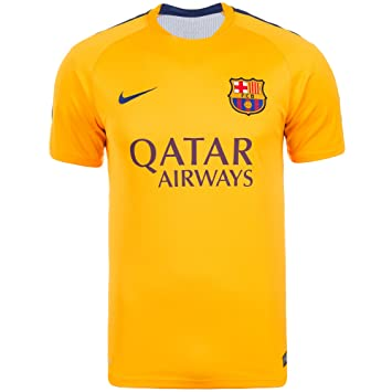 c53fe208f12 2015-2016 Barcelona Nike Pre-Match Training Jersey (Gold)