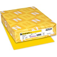"""Neenah Wausau Paper 22531 Astrobrights Color Paper, 8.5"""" x 11"""", 24 lb / 89 GSM, Solar Yellow, 500 Sheets"""