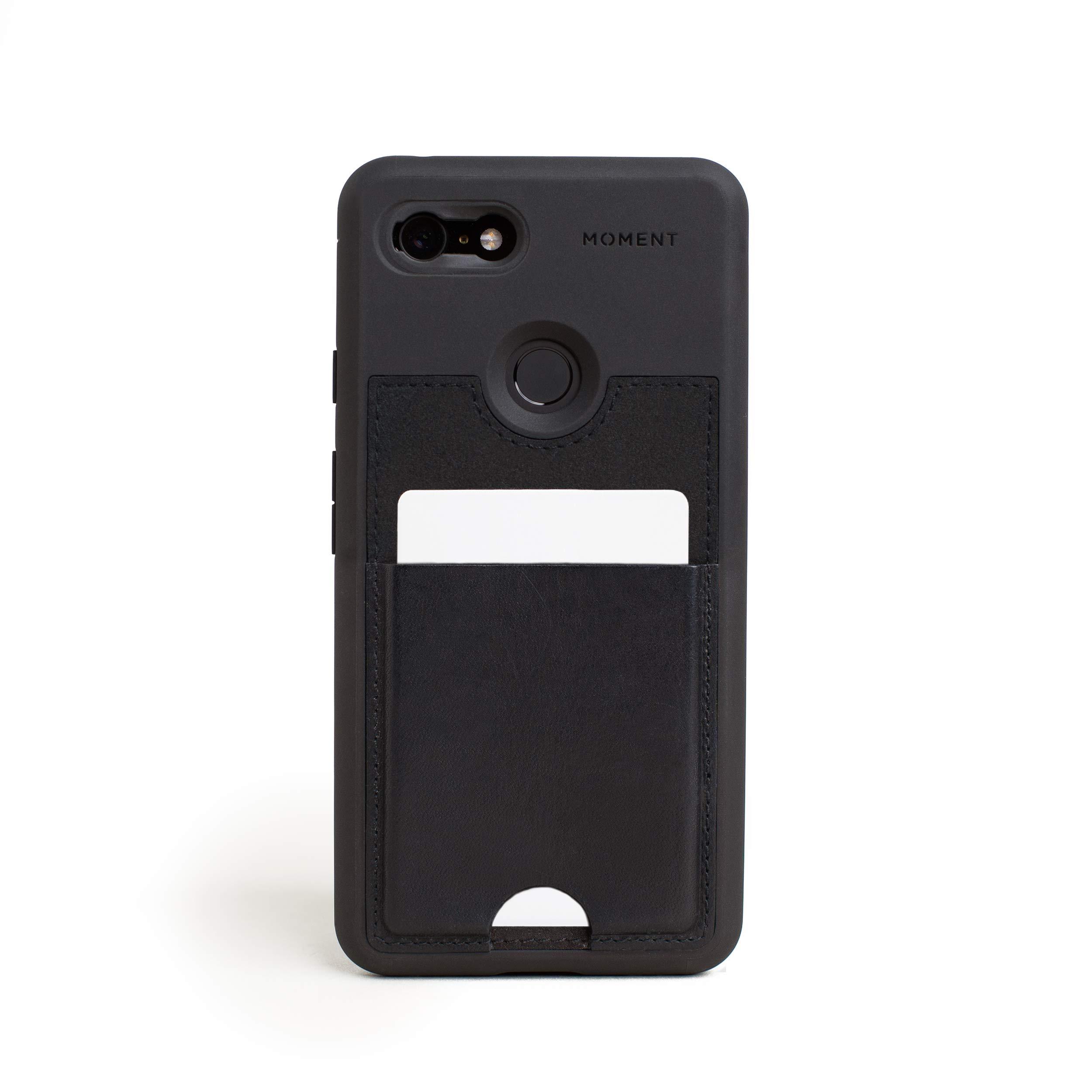 ویکالا · خرید  اصل اورجینال · خرید از آمازون · Pixel 3 XL Wallet Case    Moment Photo Case in Black Leather - Thin, Protective, Wrist Strap Friendly Wallet case for Camera Lovers. wekala · ویکالا