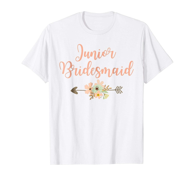50e66305b8205 Junior Bridesmaid Wedding Party T Shirt-Teechatpro