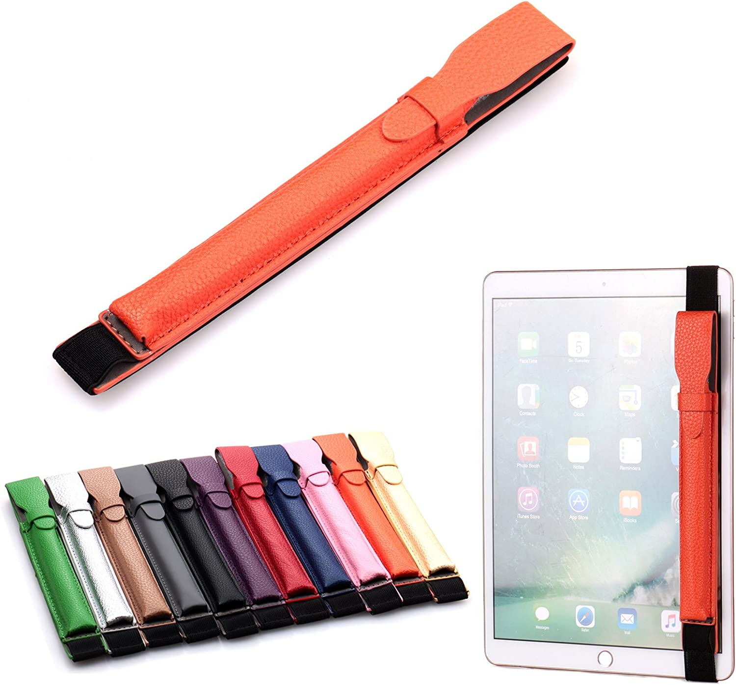 Artyond Pencil Case Holder for Apple Pencil,PU Leather Elastic Pencil Pocket Sleeve Detachable Pouch Cover for Apple Pencil, Compatible with iPad Pro 9.7, iPad Pro 10.5 & iPad Pro 12.9 Cases(Orange)