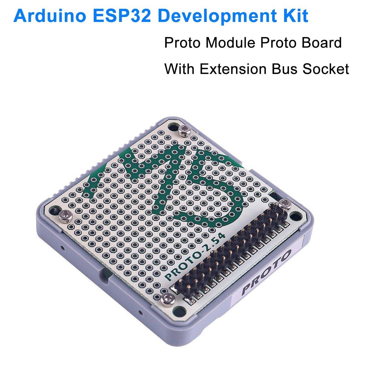 MakerHawk ESP32 Development Board Official Stock Offer Proto Module Proto  Board with Extension Bus Socket for Arduino ESP32 Development Kit M5Stack