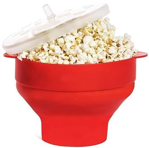 Cuenco de silicona para hacer palomitas de maíz en microondas con ...