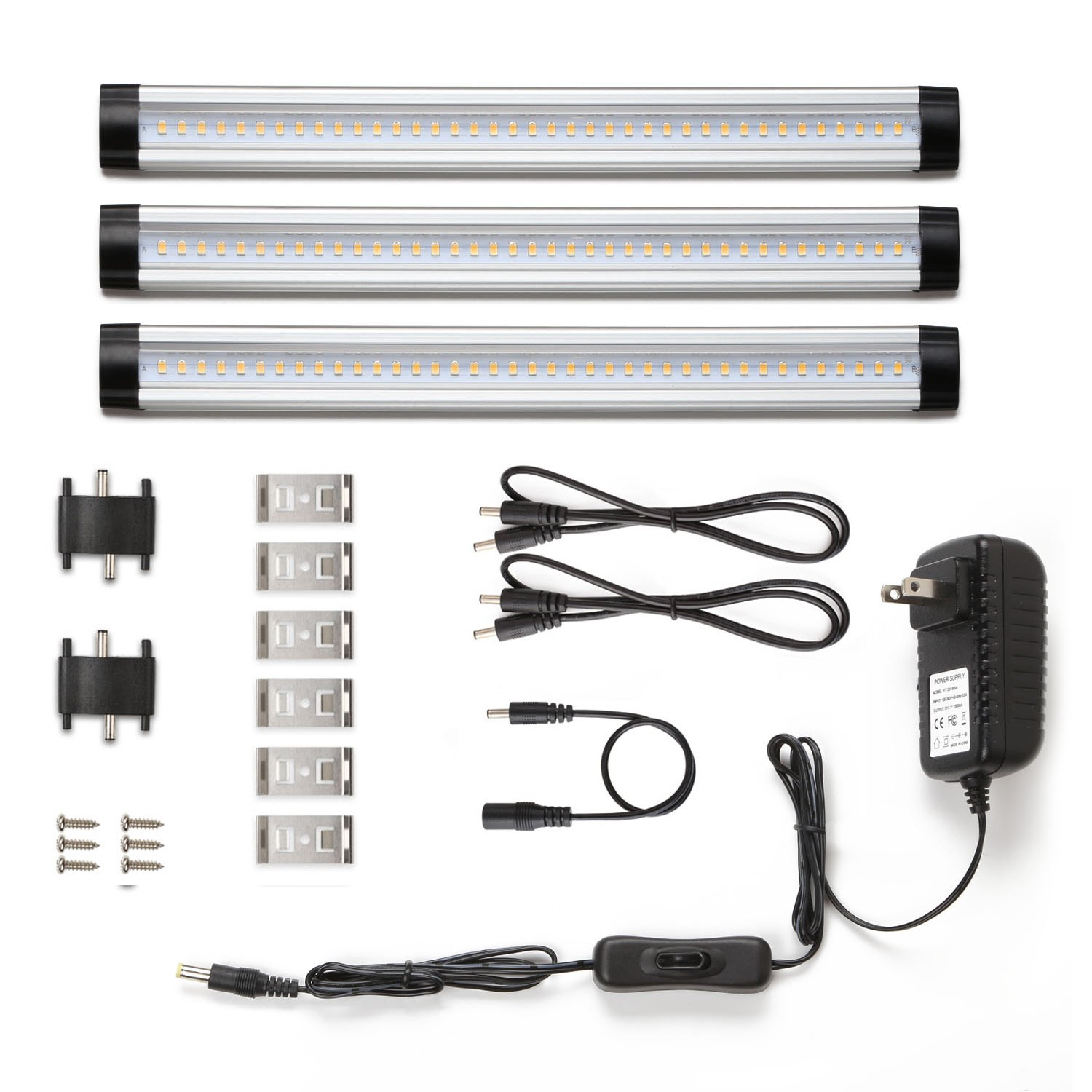 Le led under cabinet lighting warm white 900lm total of 12w 24w le led under cabinet lighting warm white 900lm total of 12w 24w fluorescent tube equivalent 3 panel kit all accessories included 12v led closet light mozeypictures Images