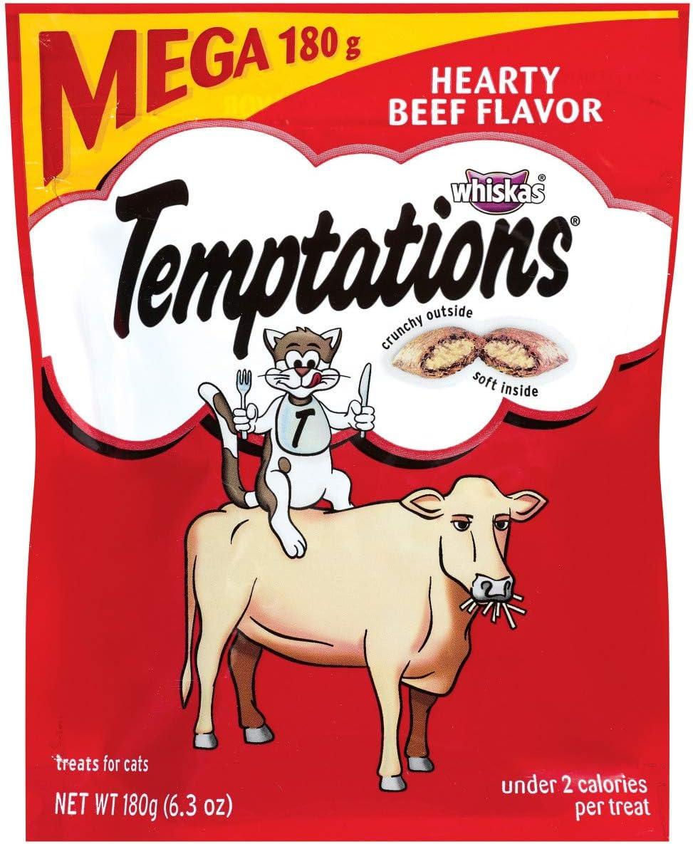 Whiskas Temptations Hearty Beef Cat Treats
