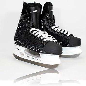 MQ Schlittschuhe Herren Gr 44 schwarz Eishockey Hockey ü2ü