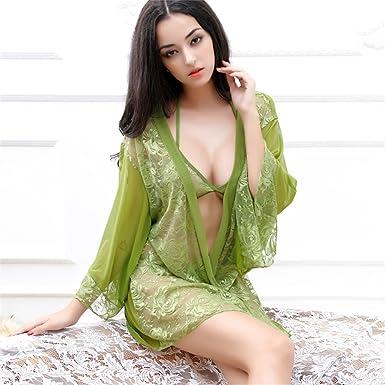 414740a45516ab Amazon.co.jp: 透明レースのセクシーな女性のパジャマ夏のセクシーな ...