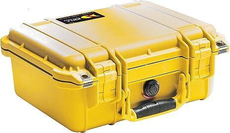 PELI 1500 Caja estanca de polipropileno para el transporte de equipamientos frágiles y valiosos, IP67 estanca e impermeable al polvo, 40L capacidad, fabricada en Alemania, sin espuma, color amar19L: Amazon.es: Electrónica