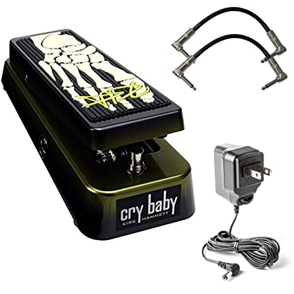 Dunlop KH95 Kirk Hammett Signature Cry Baby Wah Effect Pedal with Power  Supply and 2 x Senor Patch Cables