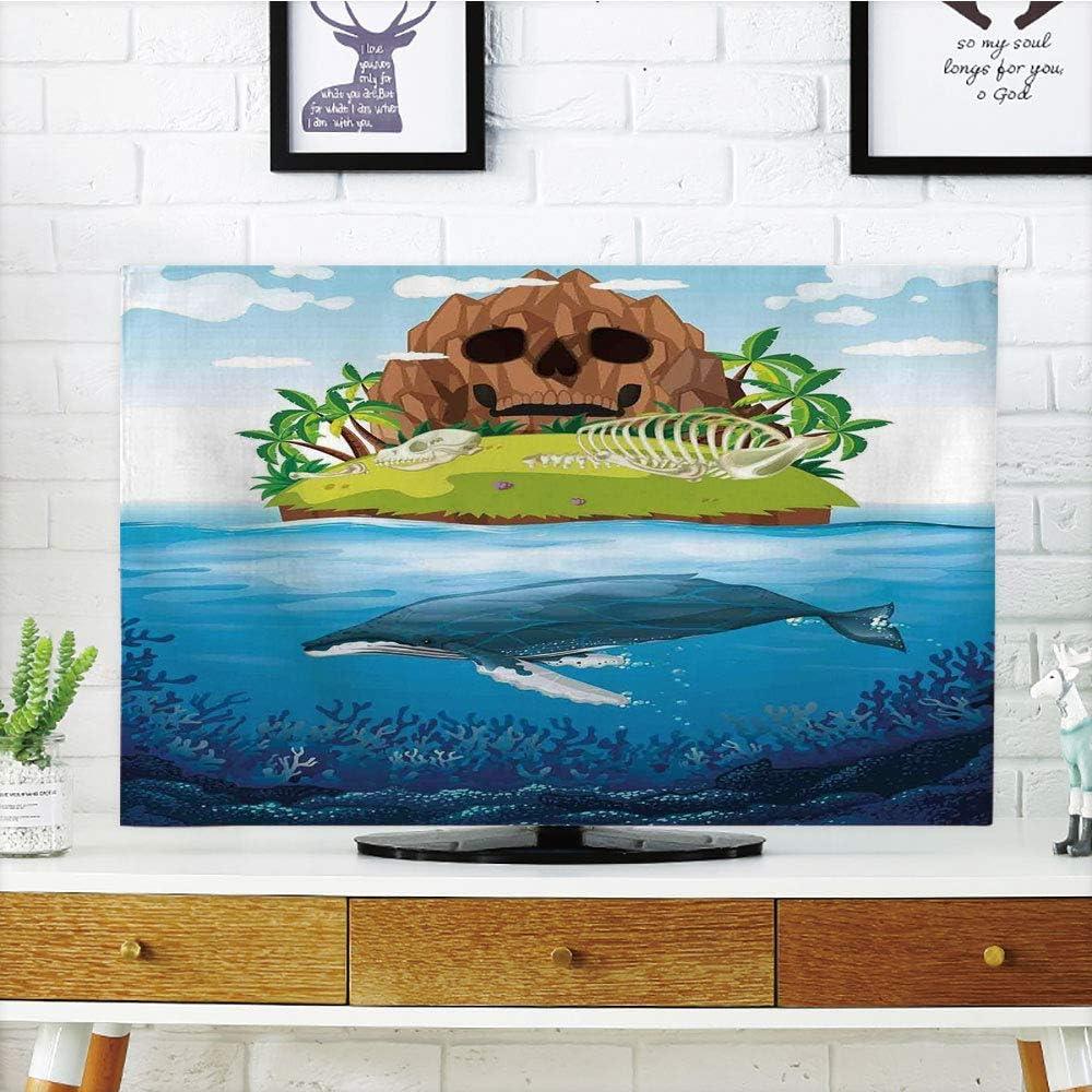 VAMIX - Funda para televisor LCD, diseño de Ballenas Dibujadas a Mano, Color Blanco y Negro, Compatible con televisores de 60 Pulgadas: Amazon.es: Electrónica