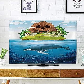 VAMIX - Funda para televisor LCD, diseño de Ballenas Dibujadas a ...