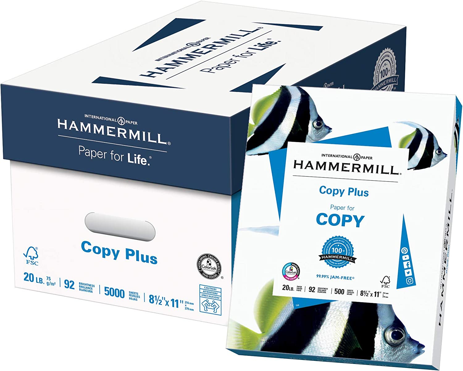 "20 lbs 92 Brightness BRAND NEW Hammermill Copy Plus 8.5/"" x 11/"" Copy Paper"