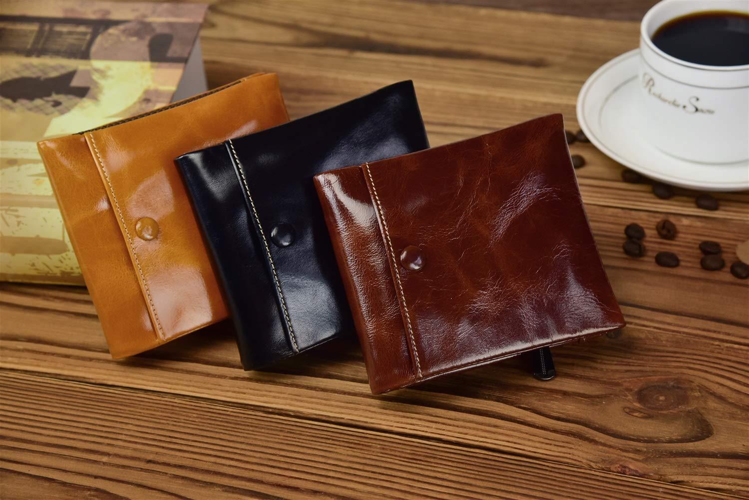 Multi Card Extra Capacity Travel Wallet CEFULTY ID Window Wallet for Men Color : Black Sleek and Stylish Gift for Men Bifold Top Flip Wallet