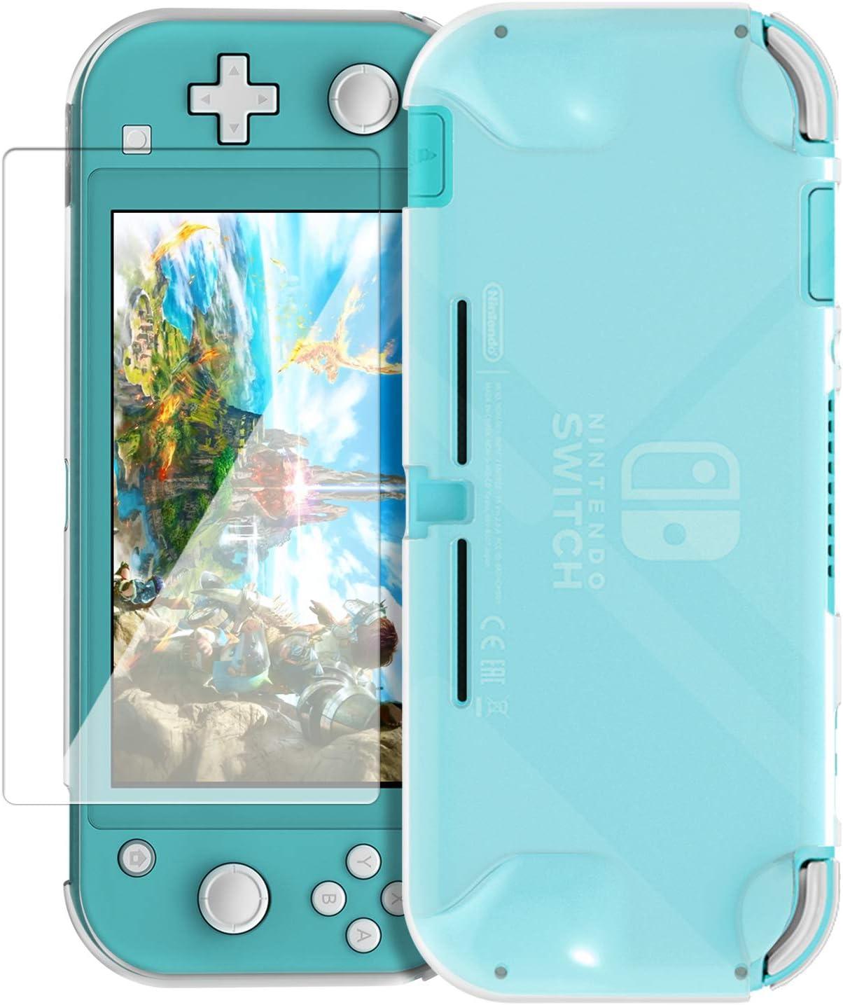 FYOUNG - Carcasa para Nintendo Switch Lite 2019 (incluye protector de pantalla de cristal templado, carcasa de TPU flexible y protector de pantalla): Amazon.es: Electrónica