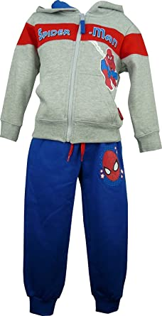 Niños Marvel Spiderman Chándal Gris-8 Años / 128 cm: Amazon.es ...