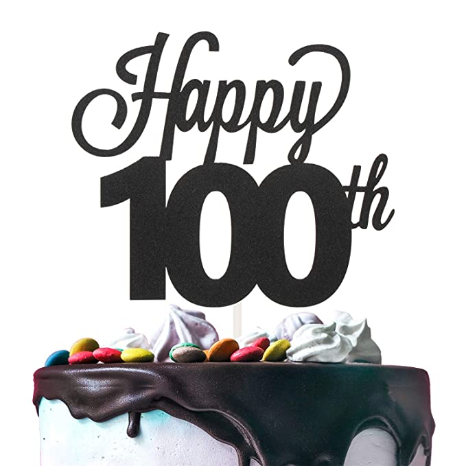 Individual Cake Topper Acrylic Black 10 13 16 18 21 25 30 40 50 60 70 80 90 100