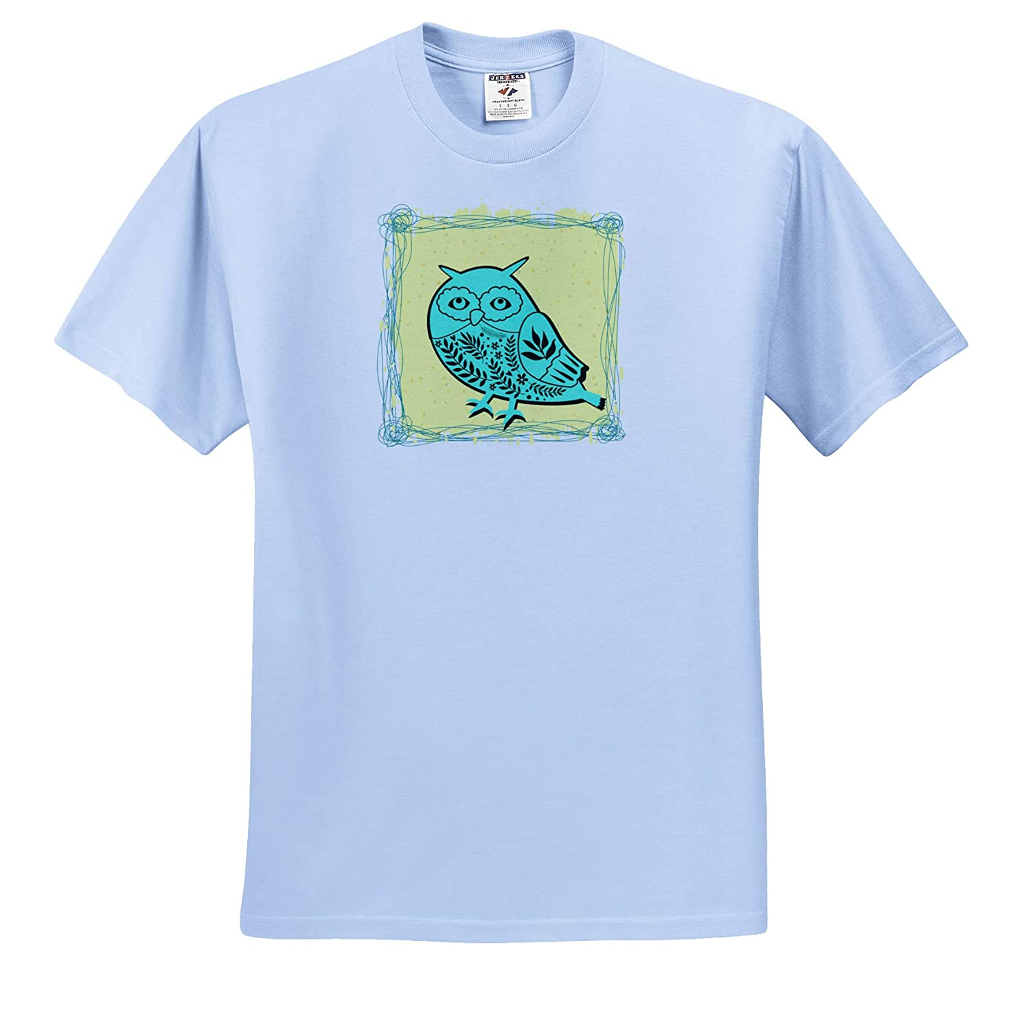 3dRose Carrie Quote Image Adult T-Shirt XL ts/_318613 Image of Owl