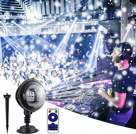 RXYYOS Proyector de Efectos de luz LED, para Fiestas, Exteriores ...