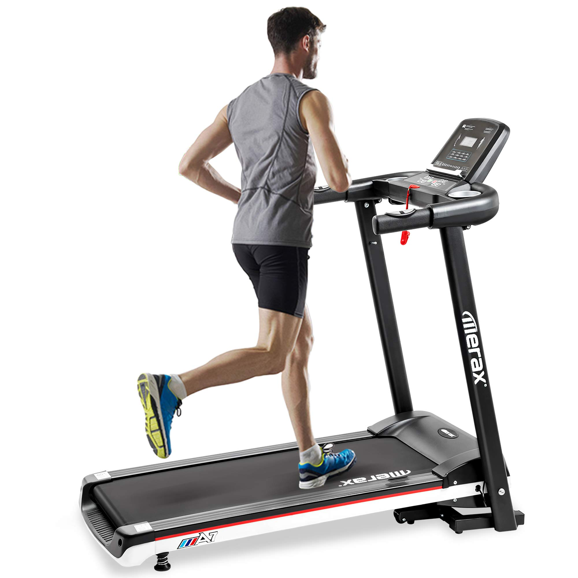 Merax Treadmill Folding Electric Treadmill for Running Easy Assembly Motorized Power Running Machine Fitness