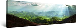 Startonight Canvas Wall Art Carpathian Mountains - Mountain Framed 16 x 48 Inches
