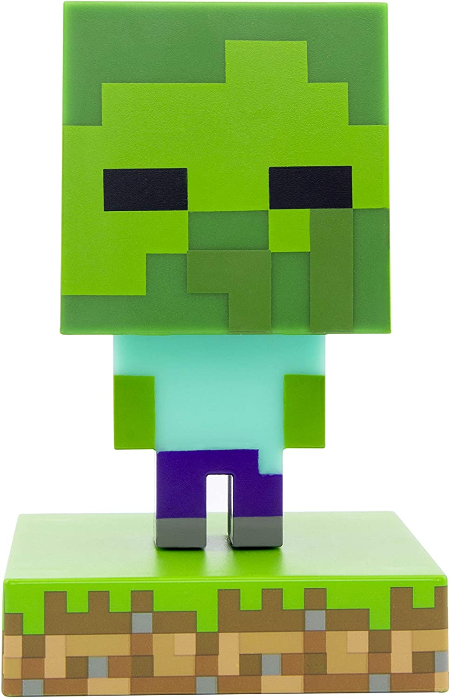 Mini Night Lamp Paladone Minecraft Zombie Icon Light BDP Multi Coloured Fun Pixelated Super Bright