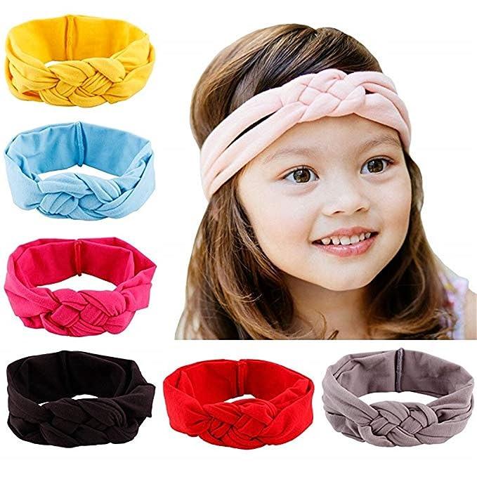 d3a6d6a4e17f1 Amazon.com  Kaca 6 Pcs Baby Headbands Turban Knotted