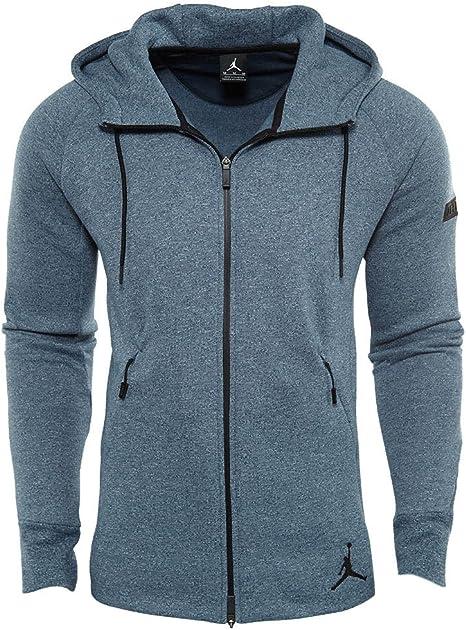 Jordan Icon Fleece Full zip Hoodie Mens Style: 809470 464