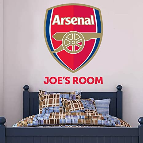 Arsenal FC Name & Crest Wall Sticker Decal Set Vinyl Poster Print