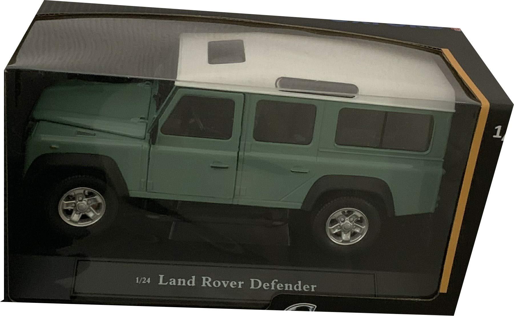 Bburago 1:32 green LAND ROVER Defender 110