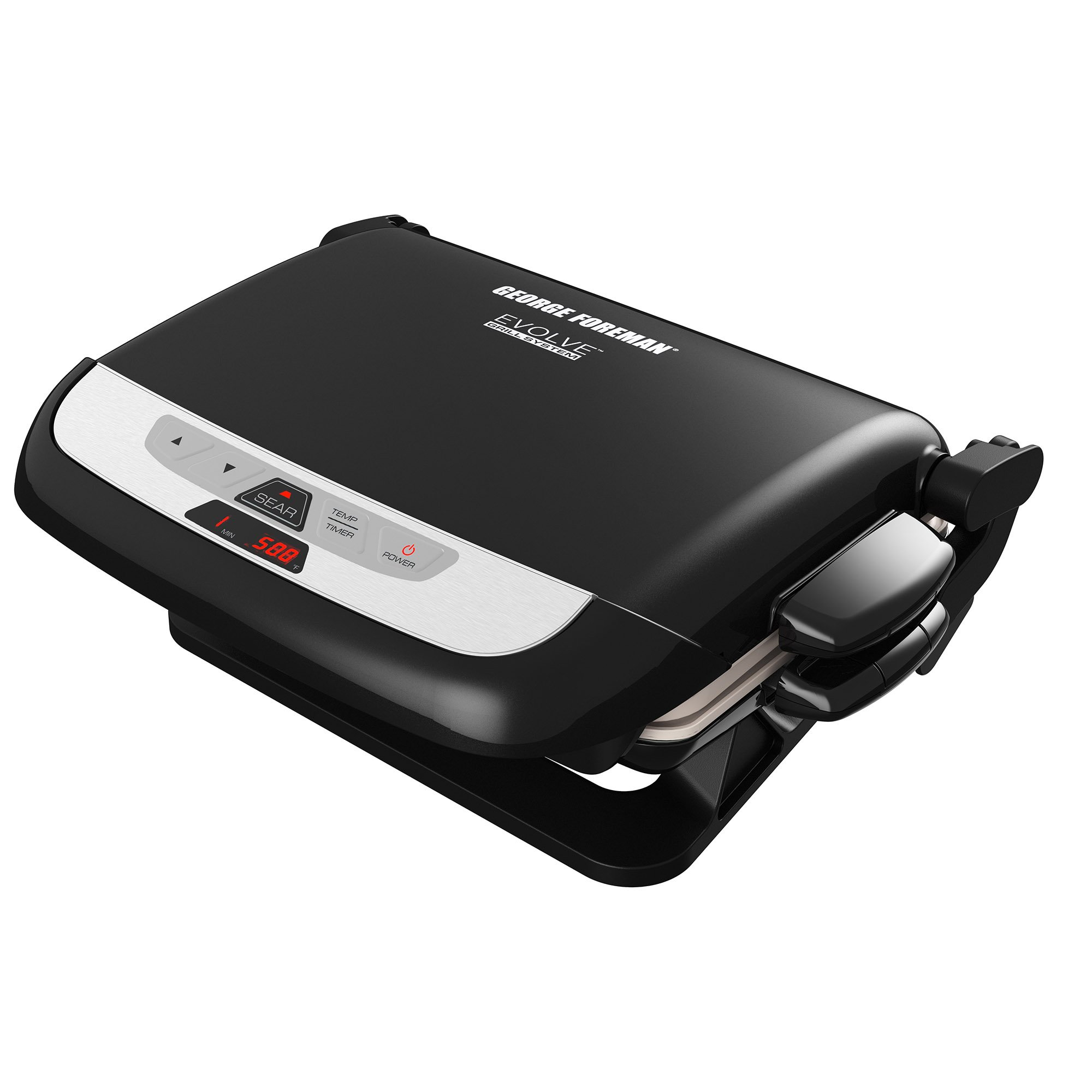 George Foreman GRP4842MB Multi-Plate Evolve Grill, (Ceramic Grilling Plates, and Waffle Plates Included), Black by George Foreman (Image #1)