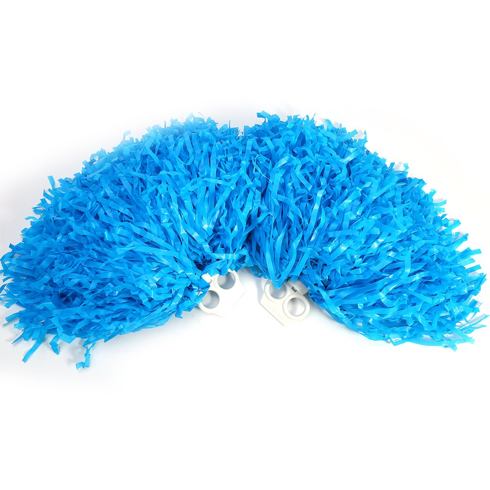 Alomejor Cheerleader Pom Poms, 7 Farben 2 Modische PE Sport Dance Cheer für Sport Team Spirit Jubelnde