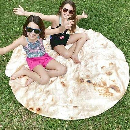 Chengstore Burrito Beach Blanket Toalla De Playa Redonda Microfibra Segura No Fading Pancake Mantas Mexicanas, Estera De Yoga, Toalla De Yoga, Estera ...