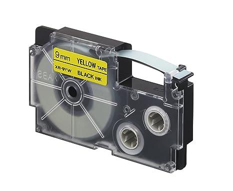 Casio ruban adhésif pour étiqueteuse électronique noir sur jaune