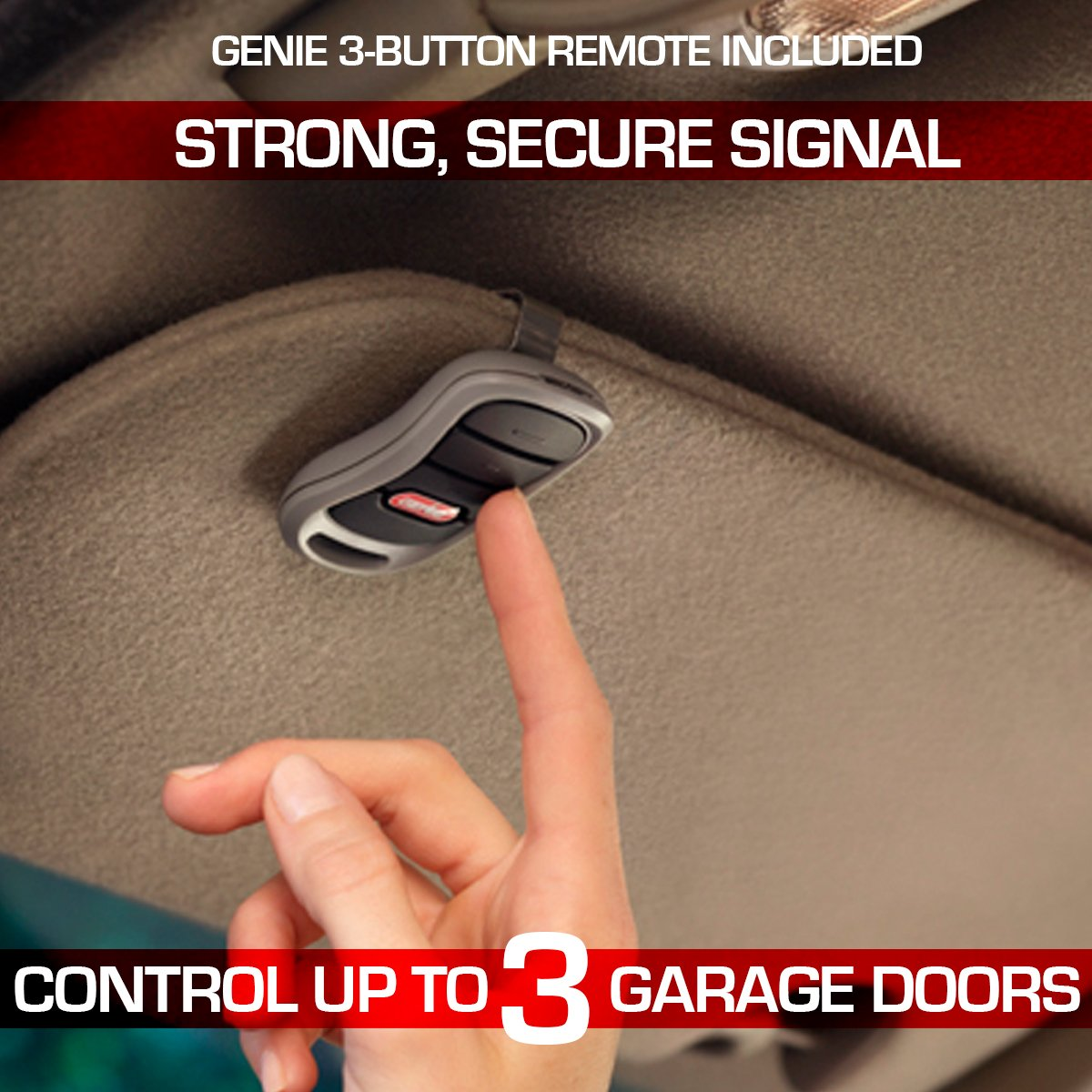 Genie GIRUD-1T Alleviates Frequency Interference in Garage Door Opener Remotes Upgrades Most Major Brands to Intellicode Security, Black by Genie