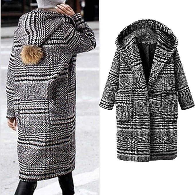 Logobeing Chaquetas Mujer Invierno Tallas Grandes Abrigo Sudaderas Jersey Suéter Cardigan Mujer Abrigo Enrejado Abrigo Cálido Abrigo de Lana Outwear: ...