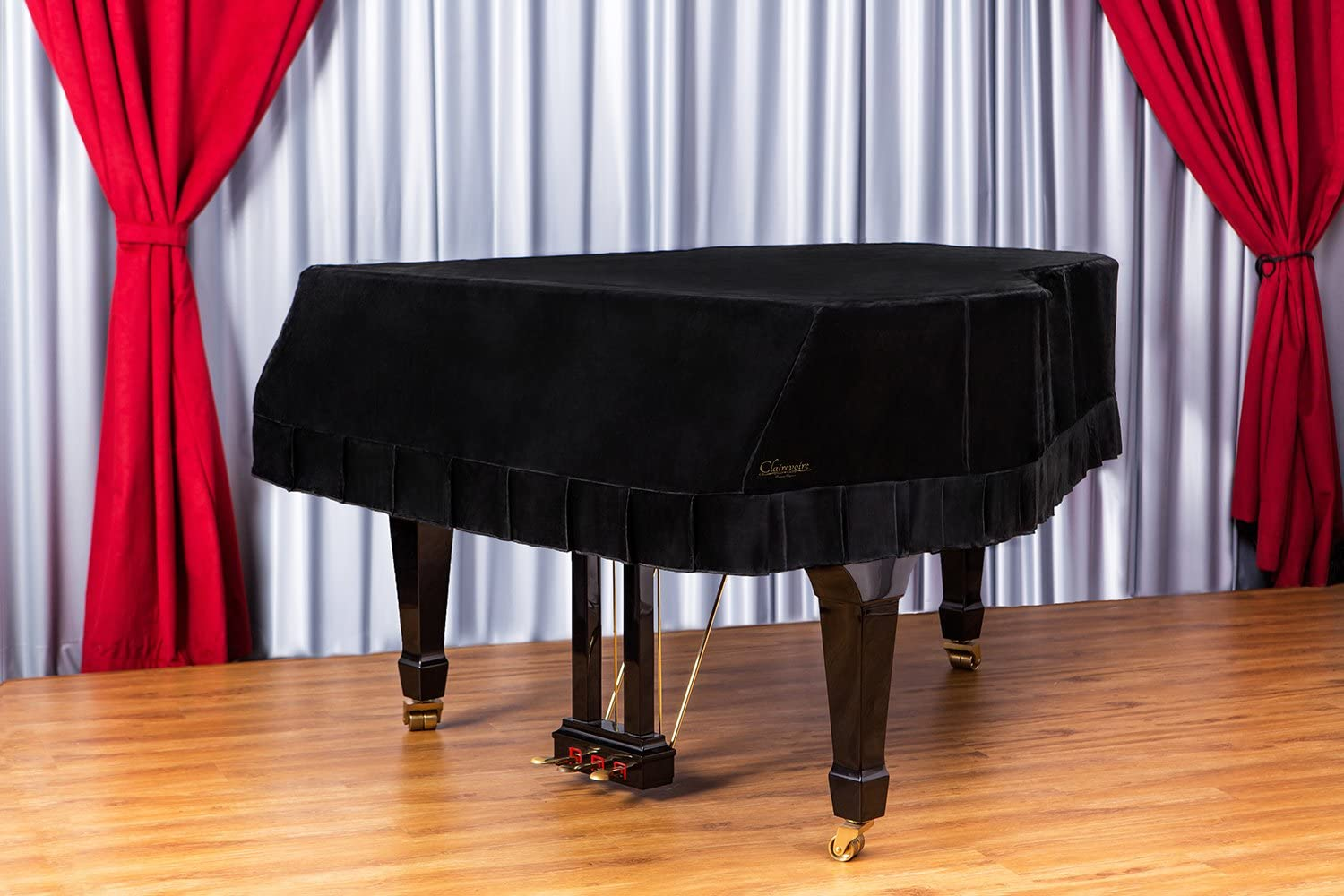 Clairevoire Grandeur: Premium Velvet Grand Piano Cover [C1] | Handcrafted | Luxury-grade Velvet | Anti-dust/blemish/scratch | Gentle Climate Protection | For Yamaha, Steinway, Kawai and many others