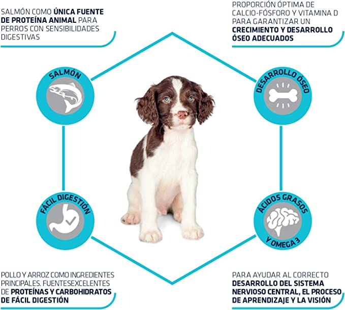 ADVANCE Sensitive Puppy - Pienso Para Cachorros Con Sensibilidades Digestivas Con Salmón - 3 kg