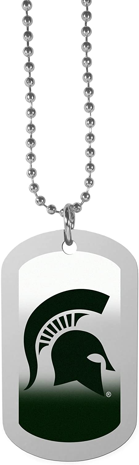 NCAA Michigan State Spartans Team Tag Necklace Steel 26