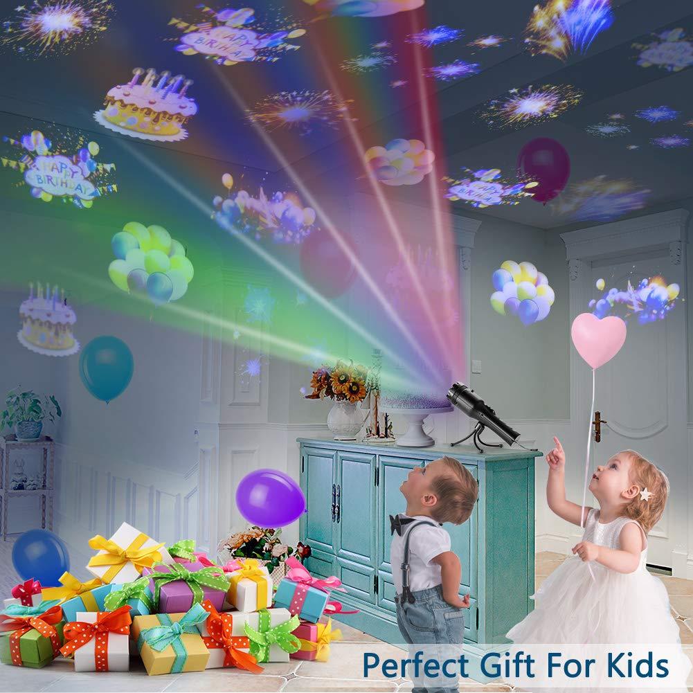 82cd2866d42 COMLIFE Proyector de Luz LED 12 Modos de Luces Portátil y Seguro Buen  Regalo para Niños Decoración de Luces para Navidad
