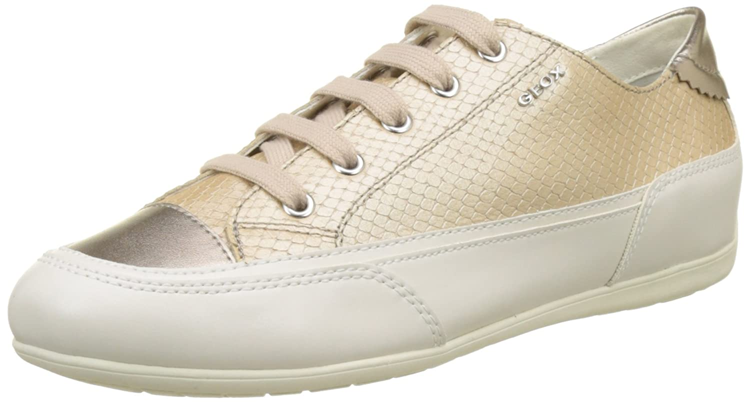 Geox D New Moena D, Zapatillas para Mujer, Beige (Lt Taupe), 35 EU