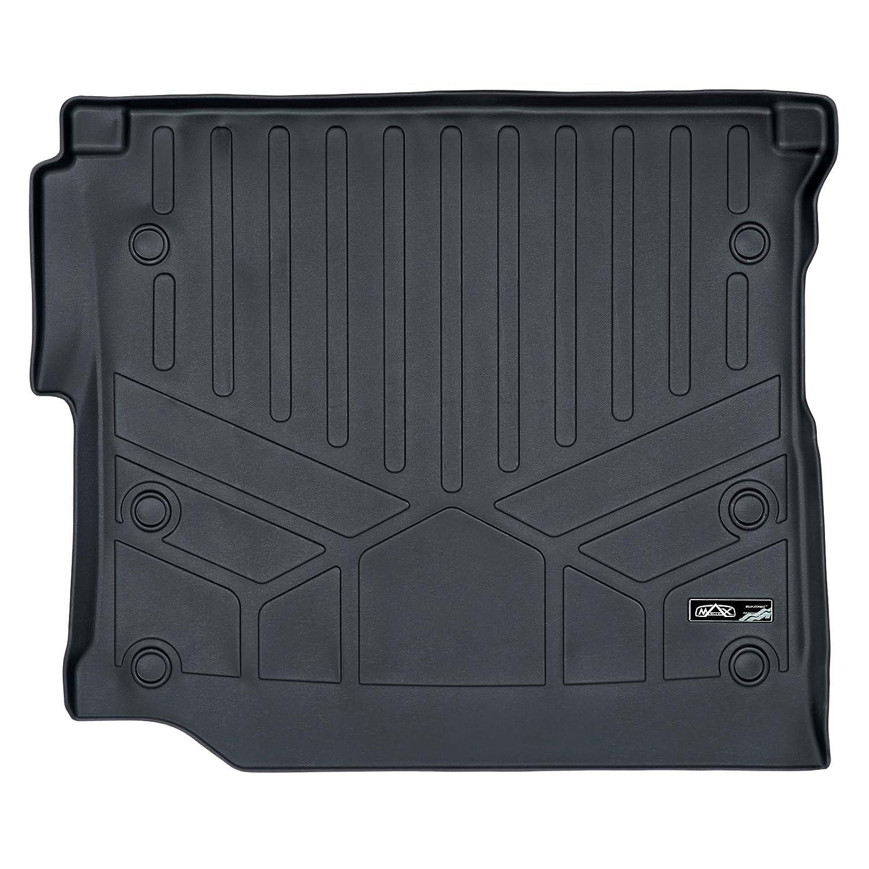 JL Body Style - not JK MAX LINER D0316 Cargo Trunk Liner Floor Mat Black for 2018-2019 Jeep Wrangler Unlimited with Subwoofer